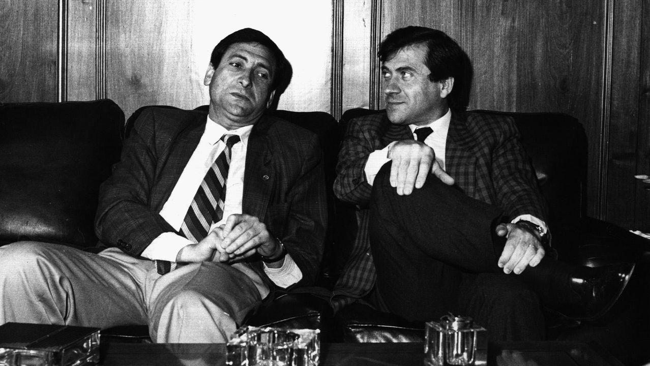 Junto al conselleiro Xosé Cuíña cuando era alcalde de Pontevedra