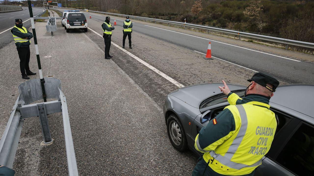 Atropello mortal en la recta de Rus.Imagen de un control de velocidad de la Guardia Civil