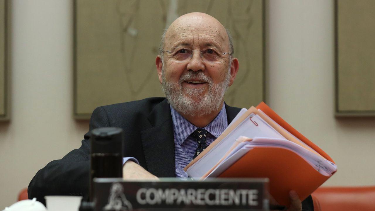 Mitin de Pedro Sánchez en Ourense.De izquierda a derecha y de arriba a abajo, Alberto Núñez Feijoo, Gonzalo Caballero, Antón Gómez-Reino y Ana Pontón