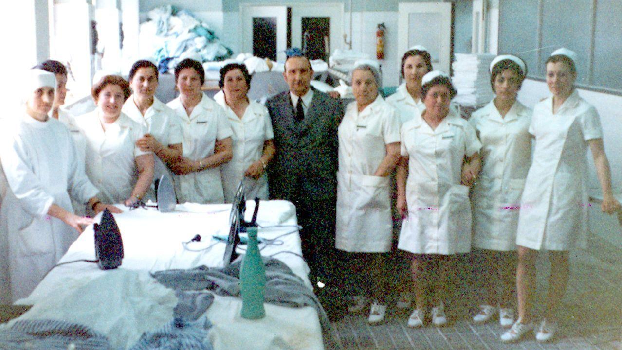 El medio siglo de la  Residencia Sanitaria Nosa Señora do Cristal .Marcos Sousa, vecino de Cartelle, sintió el temblor de tierra en Celanova