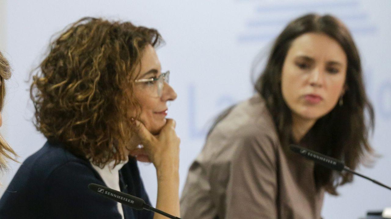 Irene Montero rompe a llorar en su discurso del 25-N.Ana Belén Vázquez Blanco, en el Congreso