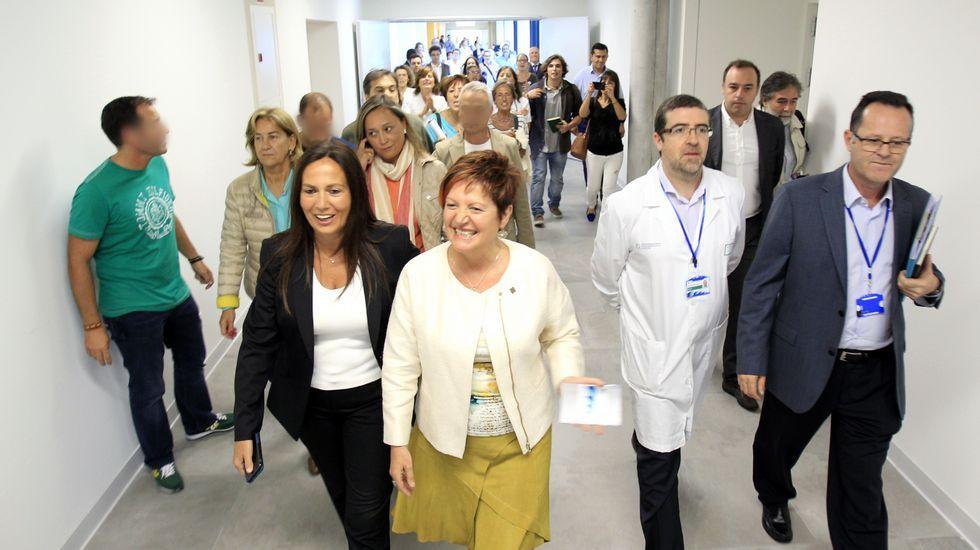 La conselleira entra en el hospital Álvaro Cunqueiro de Vigo