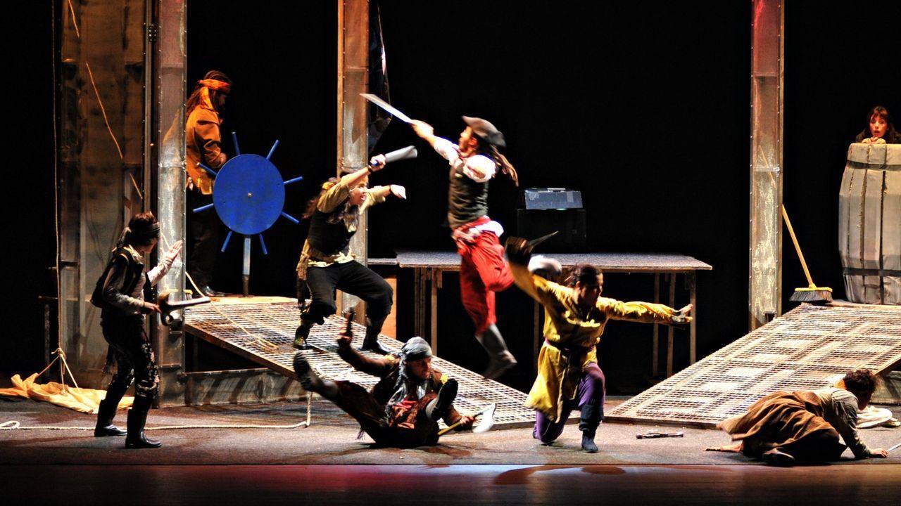 Accidente mortal en Muíños.La mostra incluye varios espectáculos realizados por el aula de teatro infantil de Ourense
