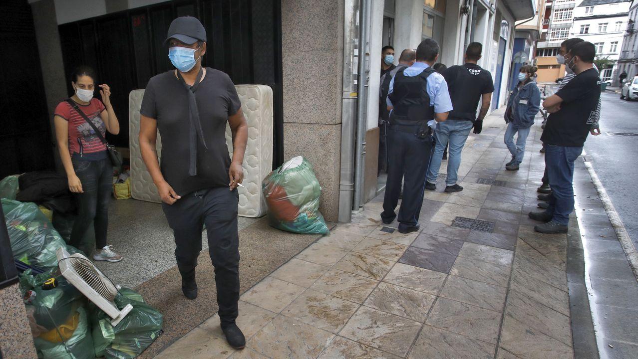 Los ocupas desalojados en Yáñez Rebolo dijeron que no tenían donde quedarse a partir de ahora
