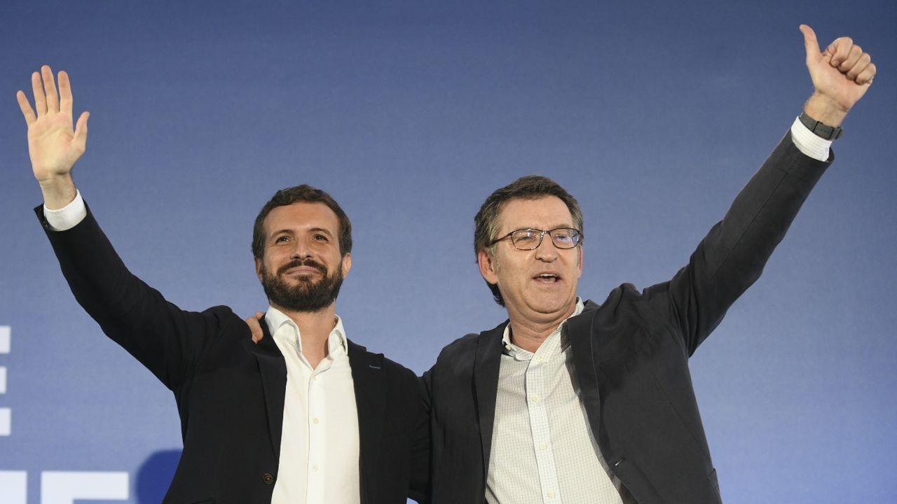 Alberto Núñez Feijoo (PPdeG), Gonzalo Caballero (PSdeG, , Ana Pontón (BNG) y Luís Villares (En Marea)