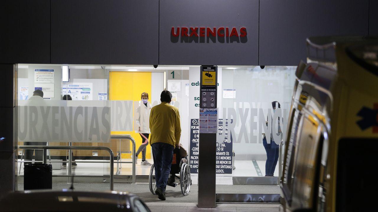 Entrada de Urgencias del Hospital Universitario A Coruña (Chuac)