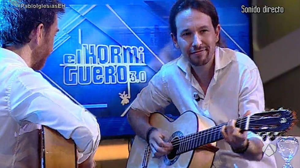 Pablo Iglesias canta junto a Pablo Motos