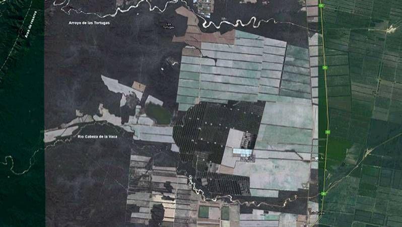 Vista satélite de la finca