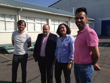 Do Campo visitó el centro educativo coristanqués.