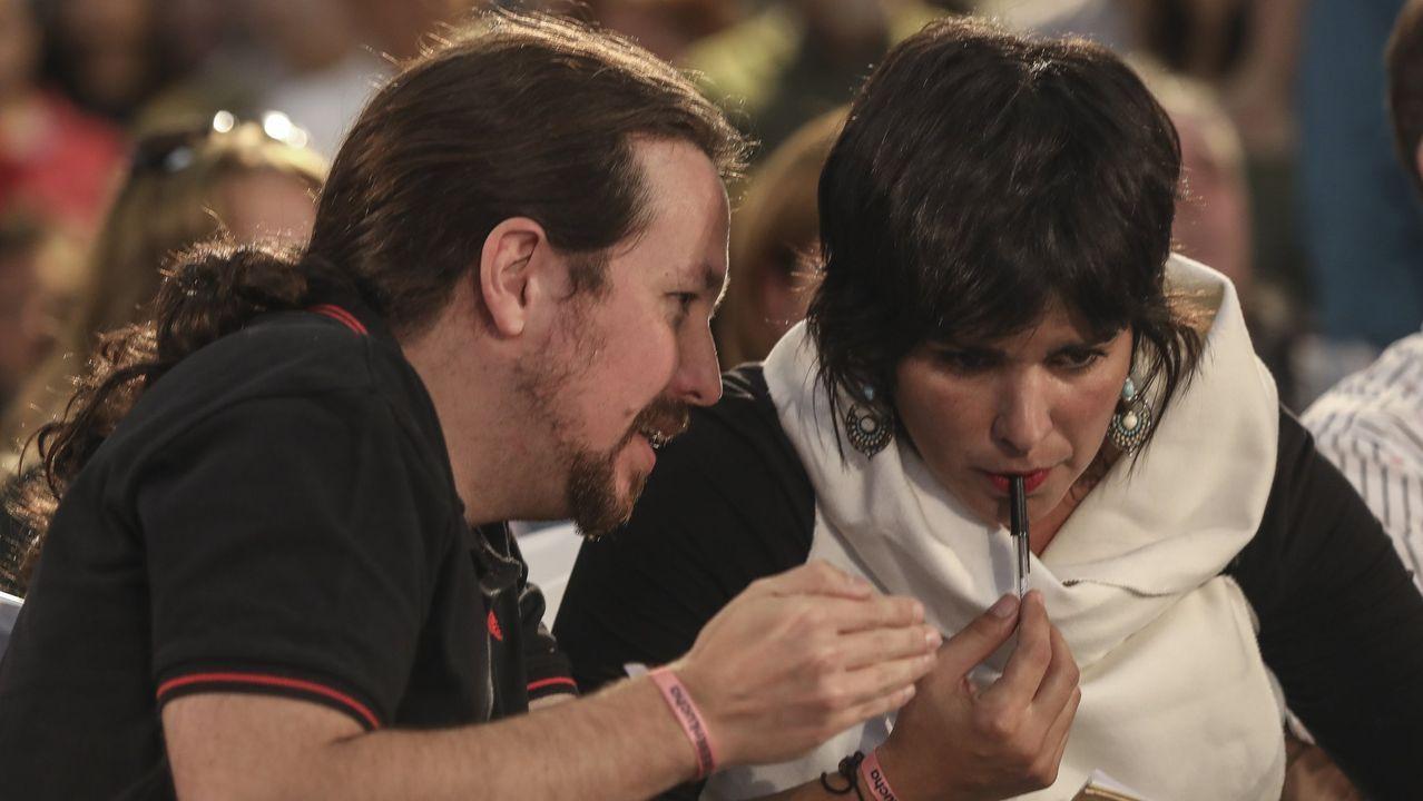 Pablo Iglesias y Teresa Rodríguez, durante un acto celebrado en Jerez el pasado 25 de octubre del 2019
