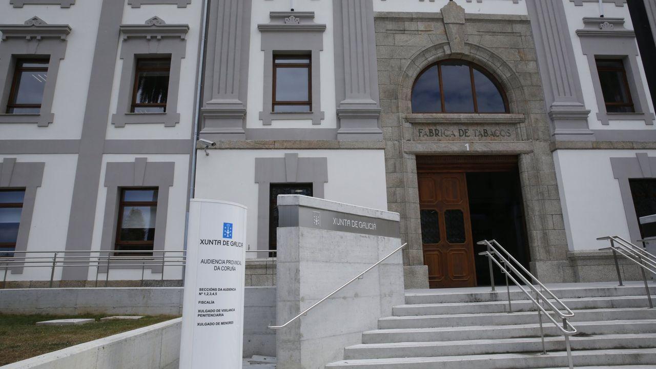 Sede de la Audiencia Provincial, en A Coruña.