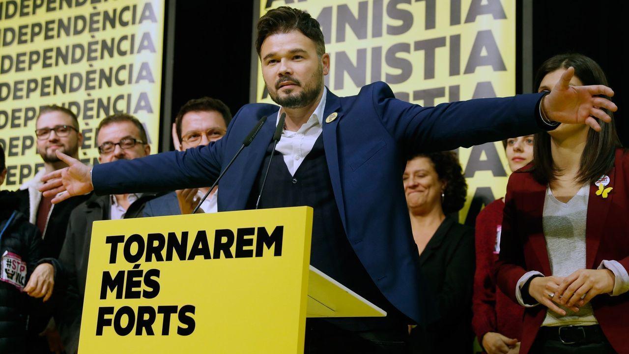 El temporal en Galicia.Inés Arrimadas, tras conocerse el domingo los resultados de Ciudadanos en las elecciones generales