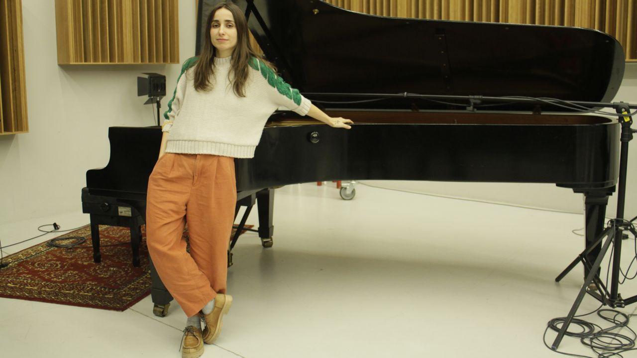 ZAHARA, CANTANTE Y PROFESORA DE CULTURA MUSICAL EN OPERACIÓN TRIUNFO, EN LOS ESTUDIOS MANS