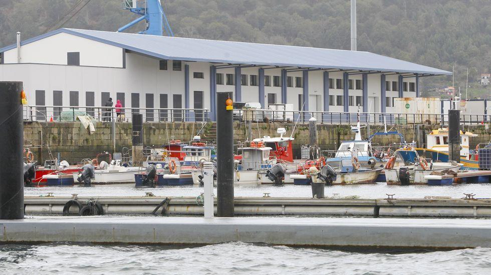 Vista de la remozada lonja de Ferrol