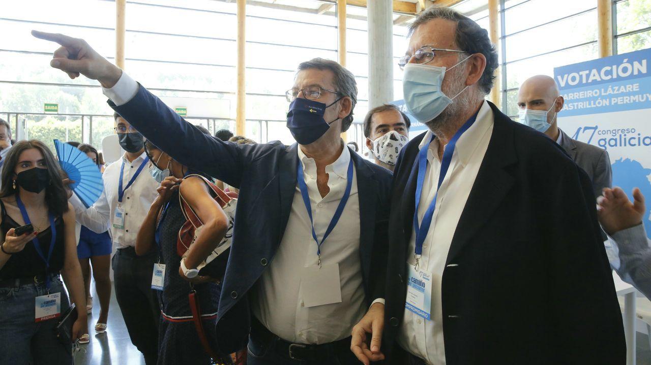 La cúpula del PP acompaña a Feijoo en el Congreso de los populares gallegos.El presidente del PP, Pablo Casado, el pasado 12 de julio en Toledo