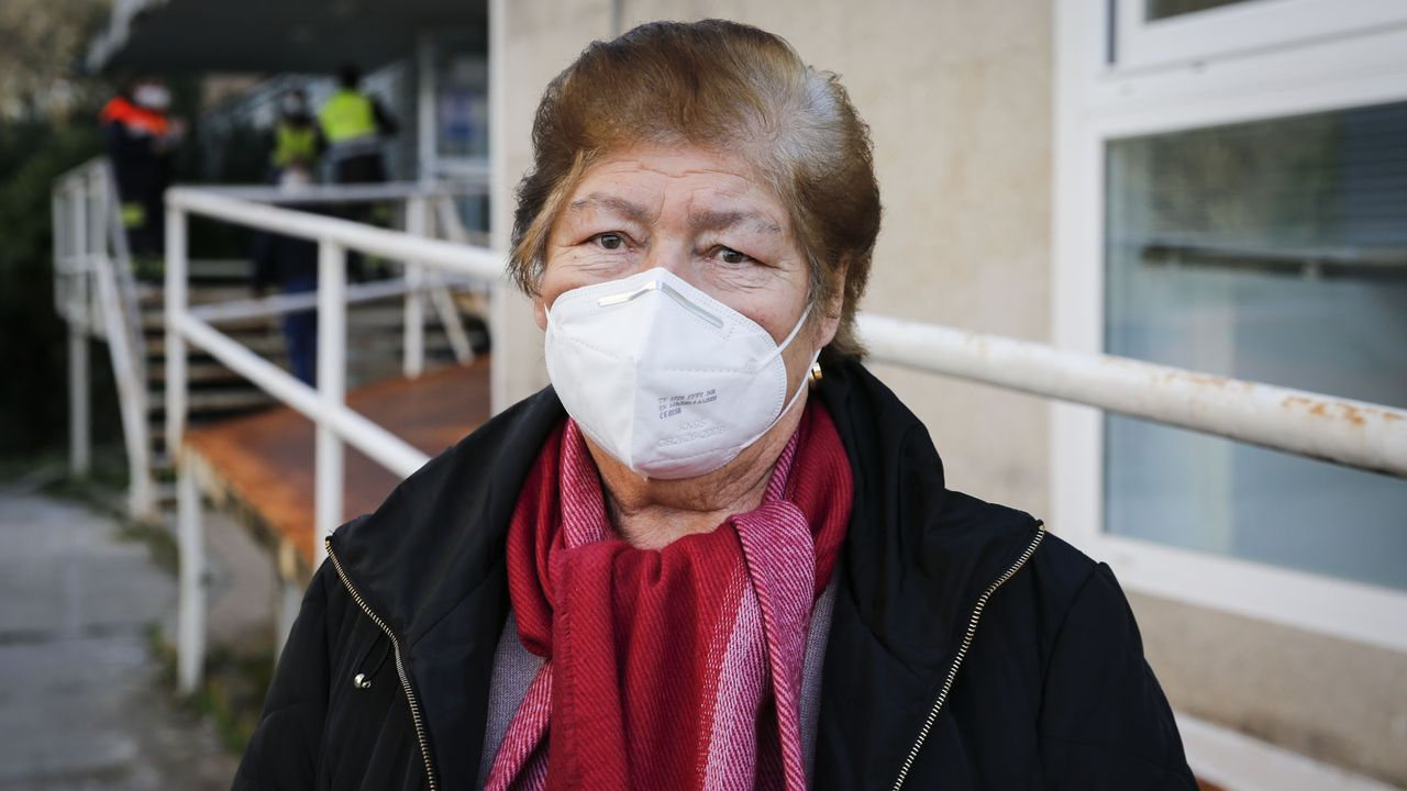 Antonina Martínez, vecina de Carballeda de Avia que se vacunó contra el covid-19