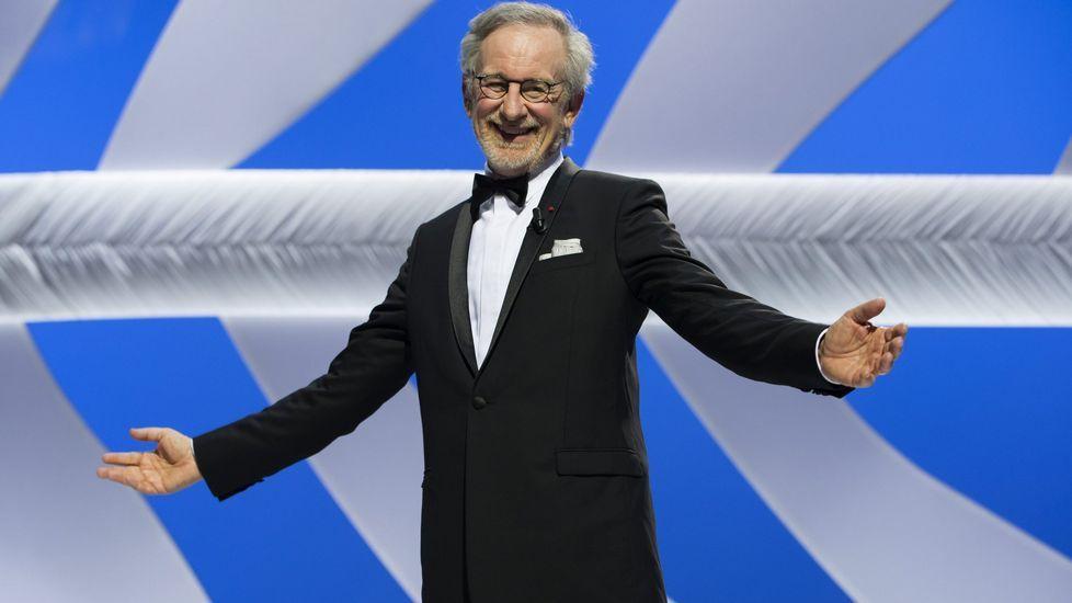 Spielberg presenta «The BFG» en Cannes.El director de cine Steven Spielberg, junto a Barack Obama, en un acto en recuerdo al Holocausto
