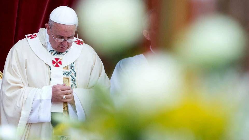 El papa Francisco durante una misa en el Corpus Christi en Roma
