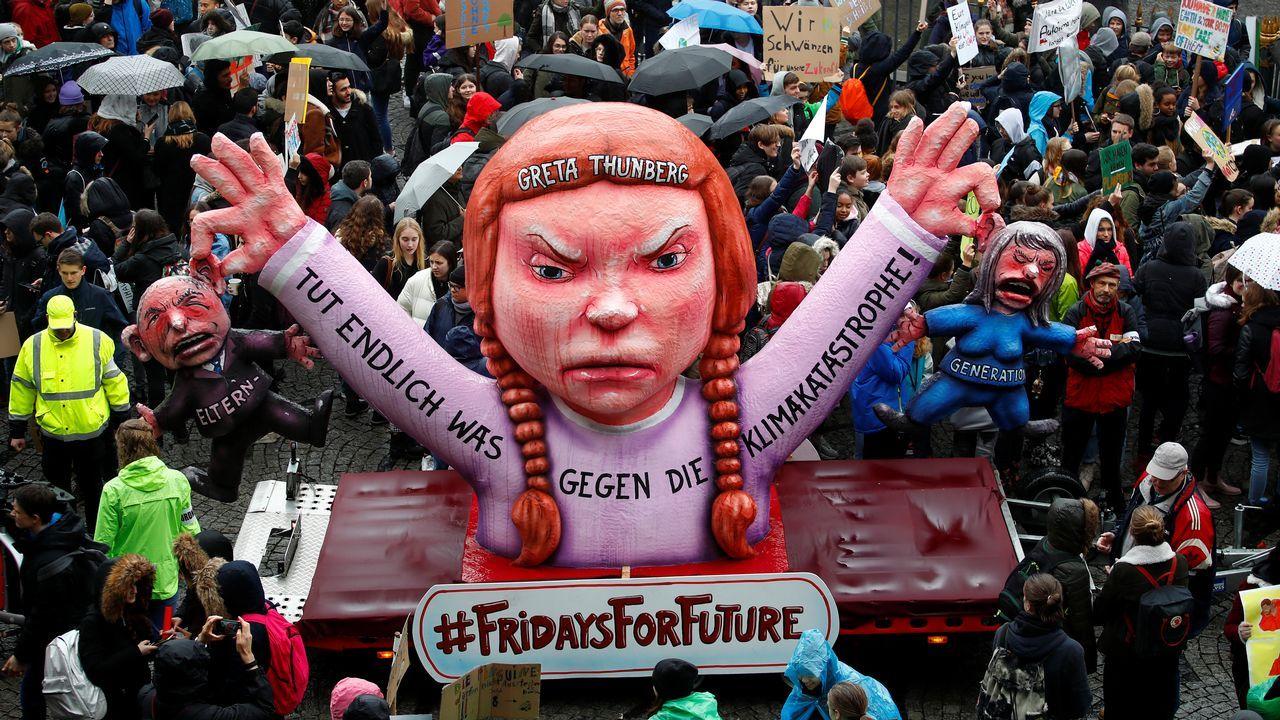 Manifestación en Dusseldorf, Alemania
