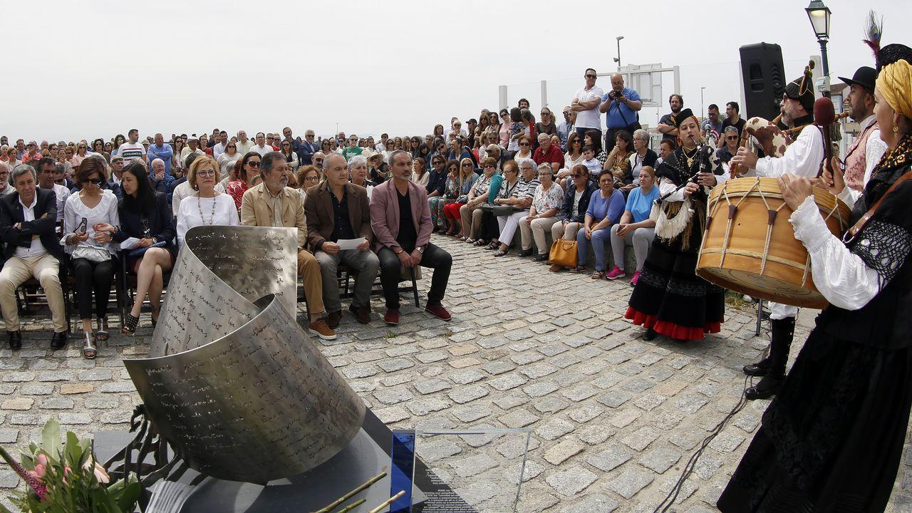 ACTO DEL HOMENAJE A PLACIDO BETANZOS EN EL QUE BAUTIZO´CON SU NOMBRE EL PASEO MARITIMO DE PALMEIRA