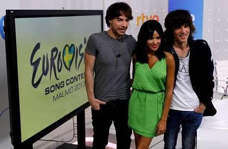 Eurovisión 2013: Primera semifinal.Raquel del Rosario, de El sueño de Morfeo, en el segundo ensayo del festival de Eurovisión, que se celebra en Malmö.