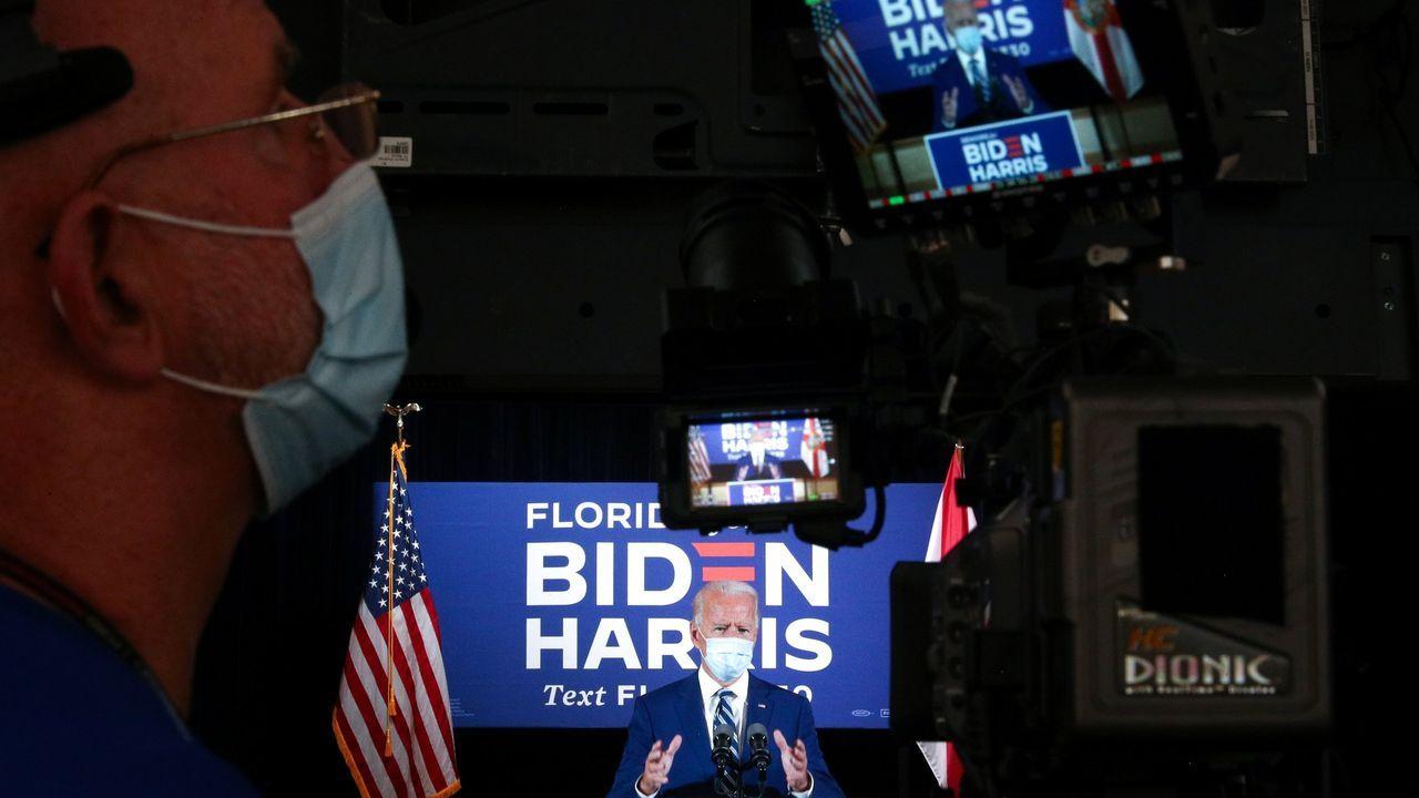 Biden, en un acto de campaña en Florida