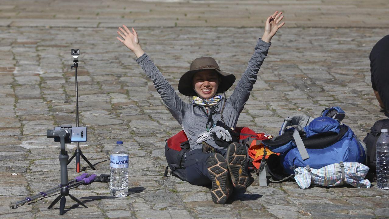 Turistas llegando en la zona de Xoan XXIII