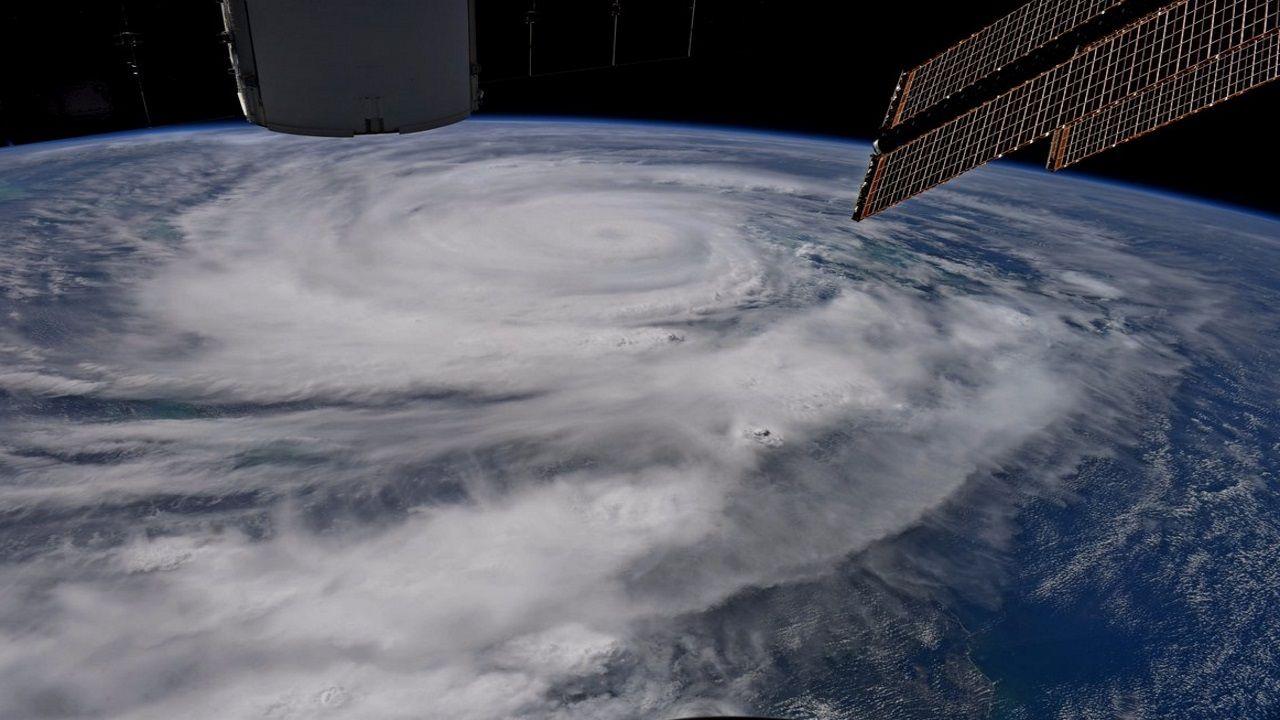 Imagen del ciclón Harvey en el Atlántico tomada por un satélite