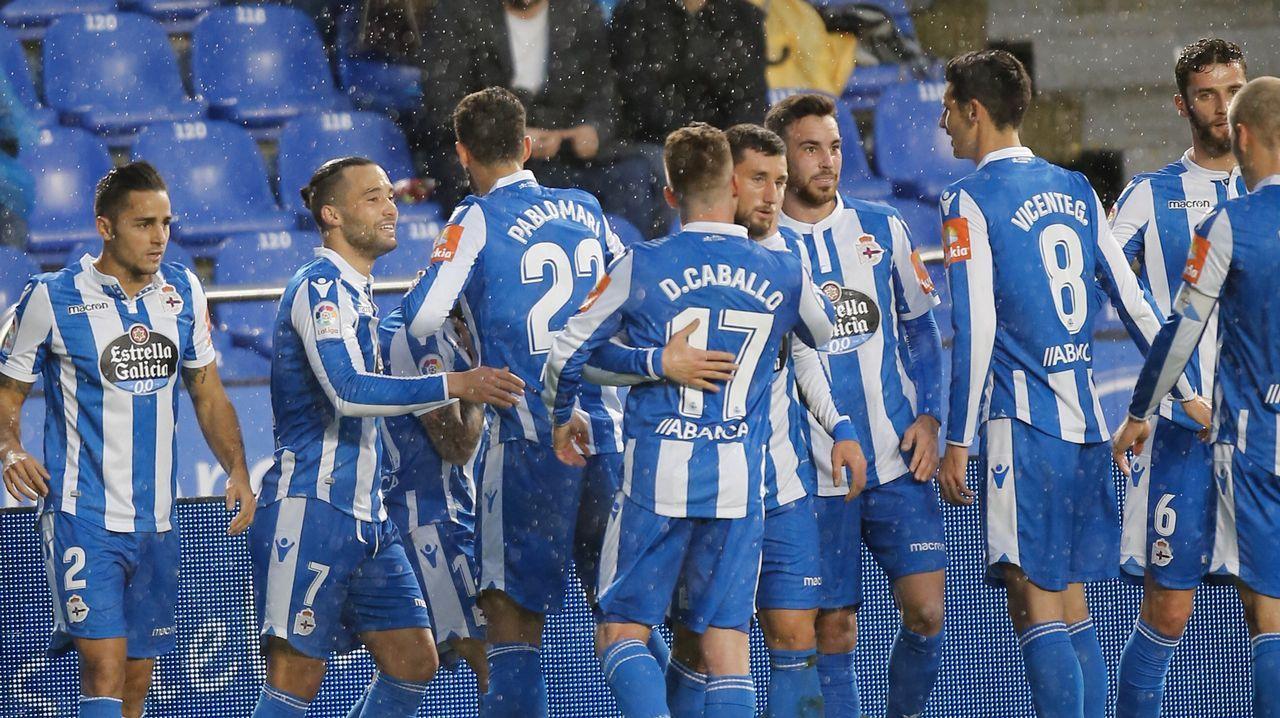 Deportivo - Albacete, en imágenes.Fede Cartabia marcó el primer gol del domingo