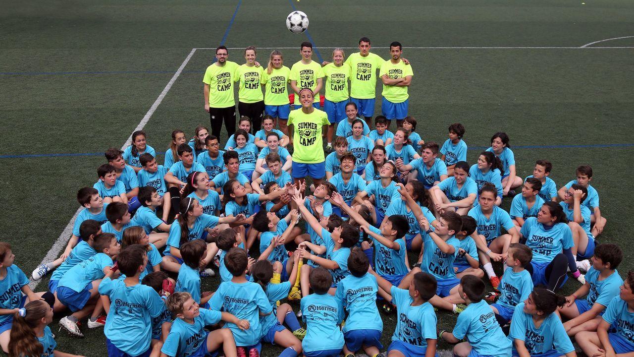 Vero Boquete y Tere Abelleira: «Será mejor que yo, seguro».Summer Camp Vero Boquete