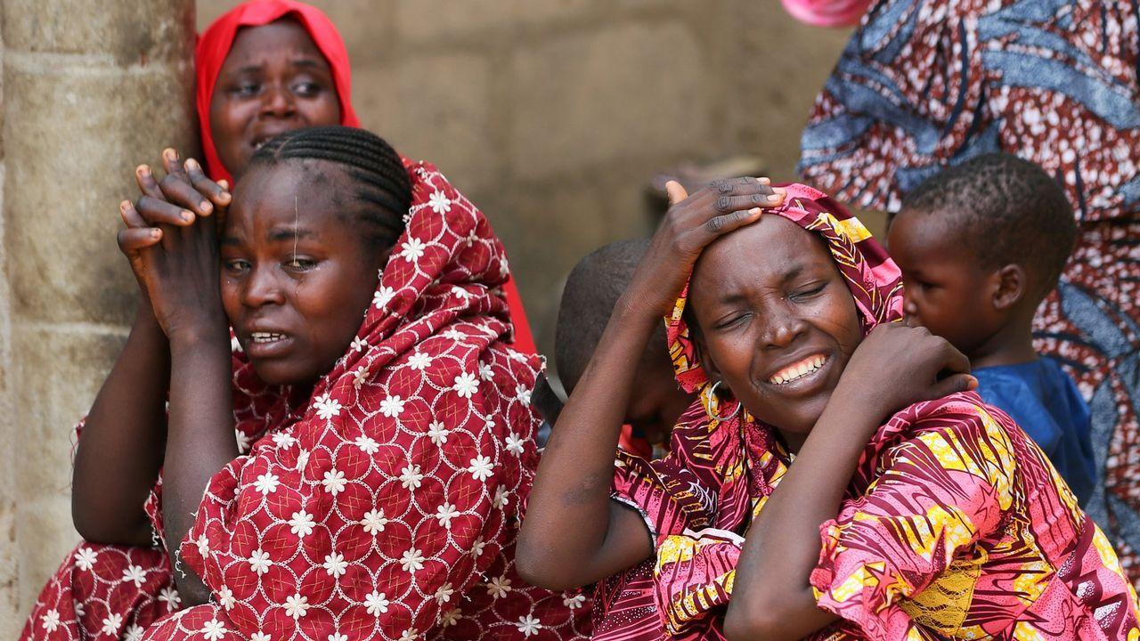 Fmailiares de las niñas secuestradas en Dapchi