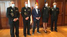 María Mónica Gutiérrez fue recibida junto con otros mandos policiales por el delegado del Gobierno en Galicia