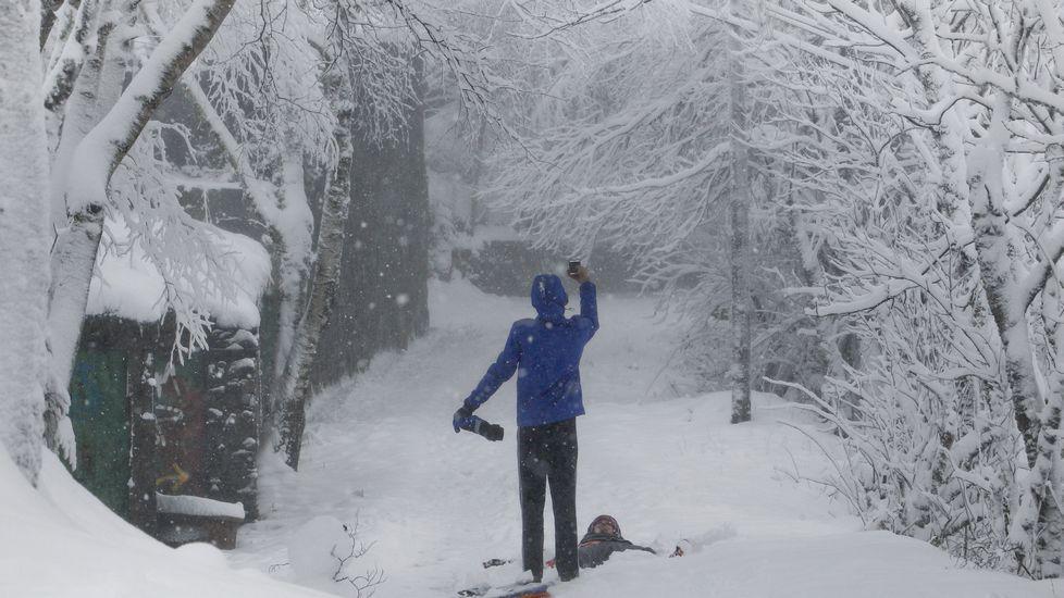 Nieve en O Cebreiro.