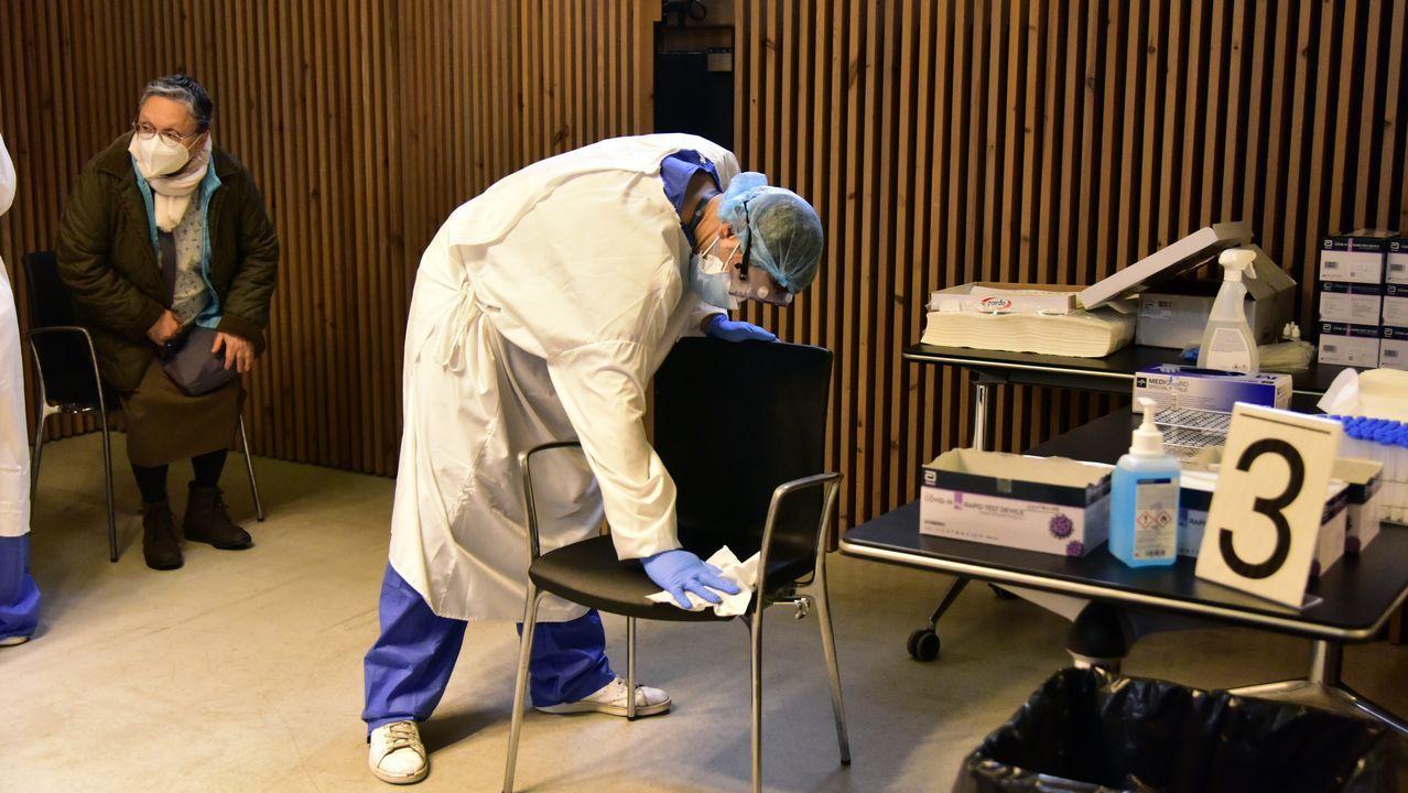 El Hospital San Pau de Barcelona inició ayer cribados masivos de prevención contra el covid-19