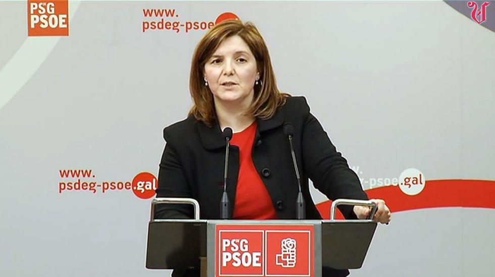 Pilar Cancela: «Bastante teño co que teño».Pilar Cancela preside la reunión de la gestora del PSdeG-PSOE