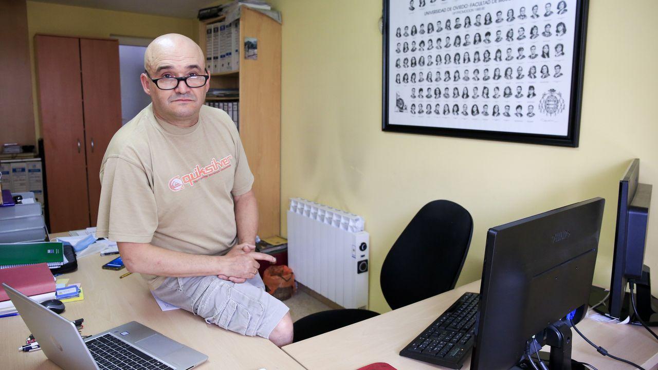 Luis Llaneza en las instalaciones de su empresa Arena, en Lugo