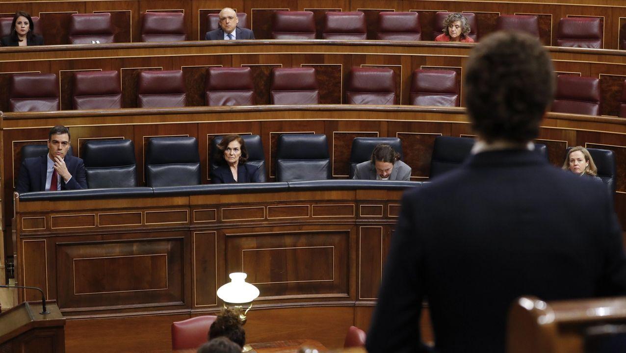 Pedro Sánchez, durante su comparecencia junto a Giuseppe Conte