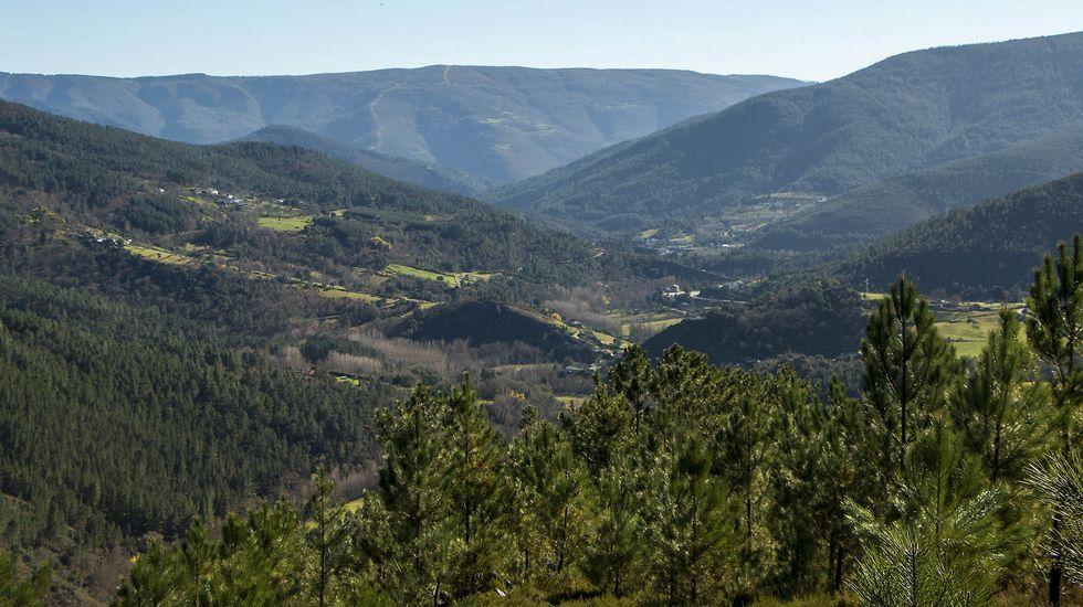 Desde el camino se puede disfrutar de una amplia vista del valle del río Lor
