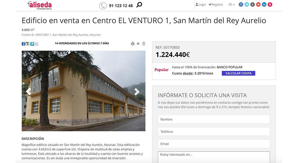 El consejero Genaro Alonso inauguró el curso de los centros de educación de personas adultas (Cepas) en San Martín del Rey Aurelio.Captura del anuncio de Venturo