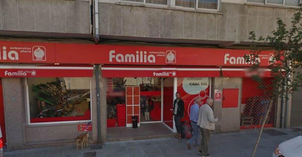 Supermercado donde tuvo lugar la agresión