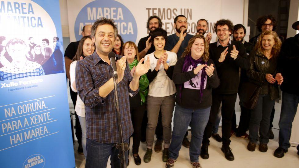 Xavier Vence y Xosé Manuel Carril en el comienzo de campaña del BNG en A Coruña