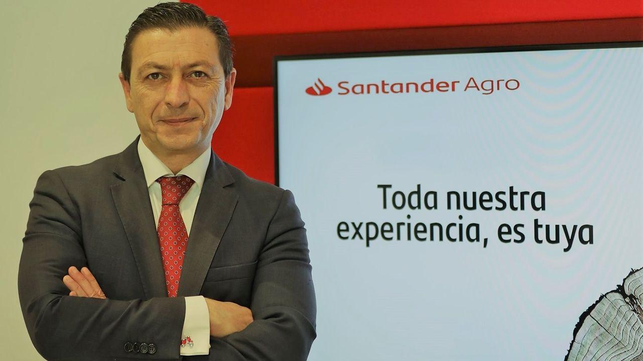 La vendimia se adelanta en O Baixo Miño.Antonio Manuel Gago Martís, director de Negocio Agroalimentario, Santander Galicia