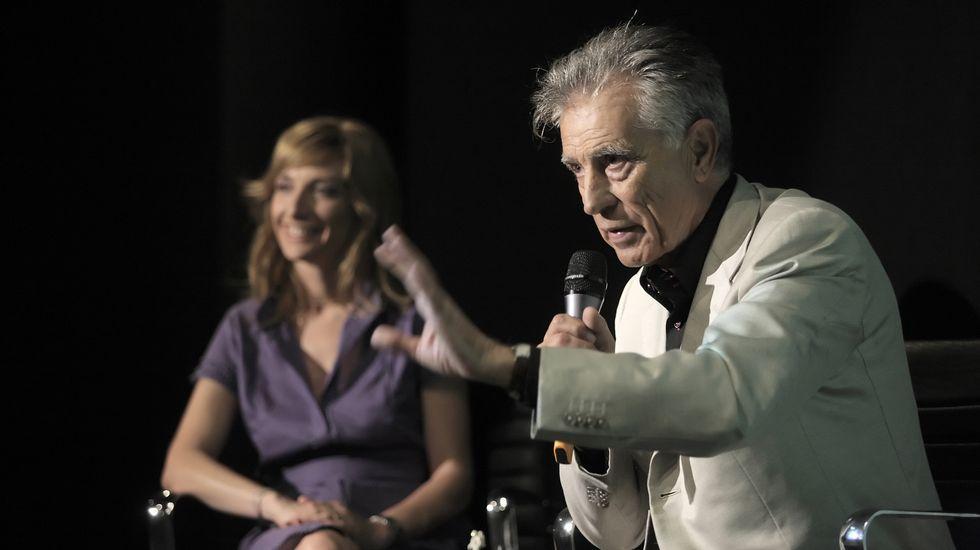 Jesús Hermida, en el año 2009, durante la presentación del especial de TVE sobre los 40 años de la llegada del hombre a la luna.