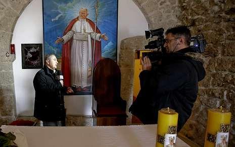 El suceso se produjo en la iglesia San Pietro della Ienca, en los Abruzzo.