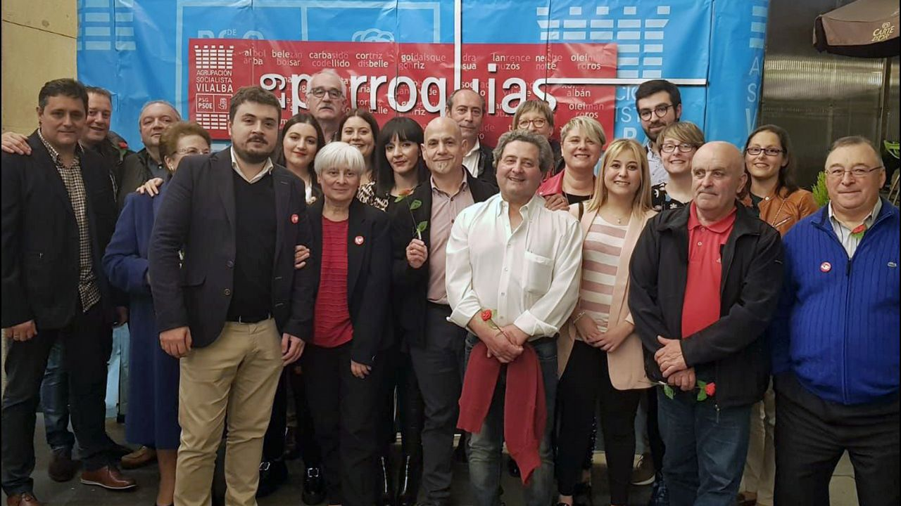 Candidatura del PSOE de Vilalba, encabezada por Elba Veleiro