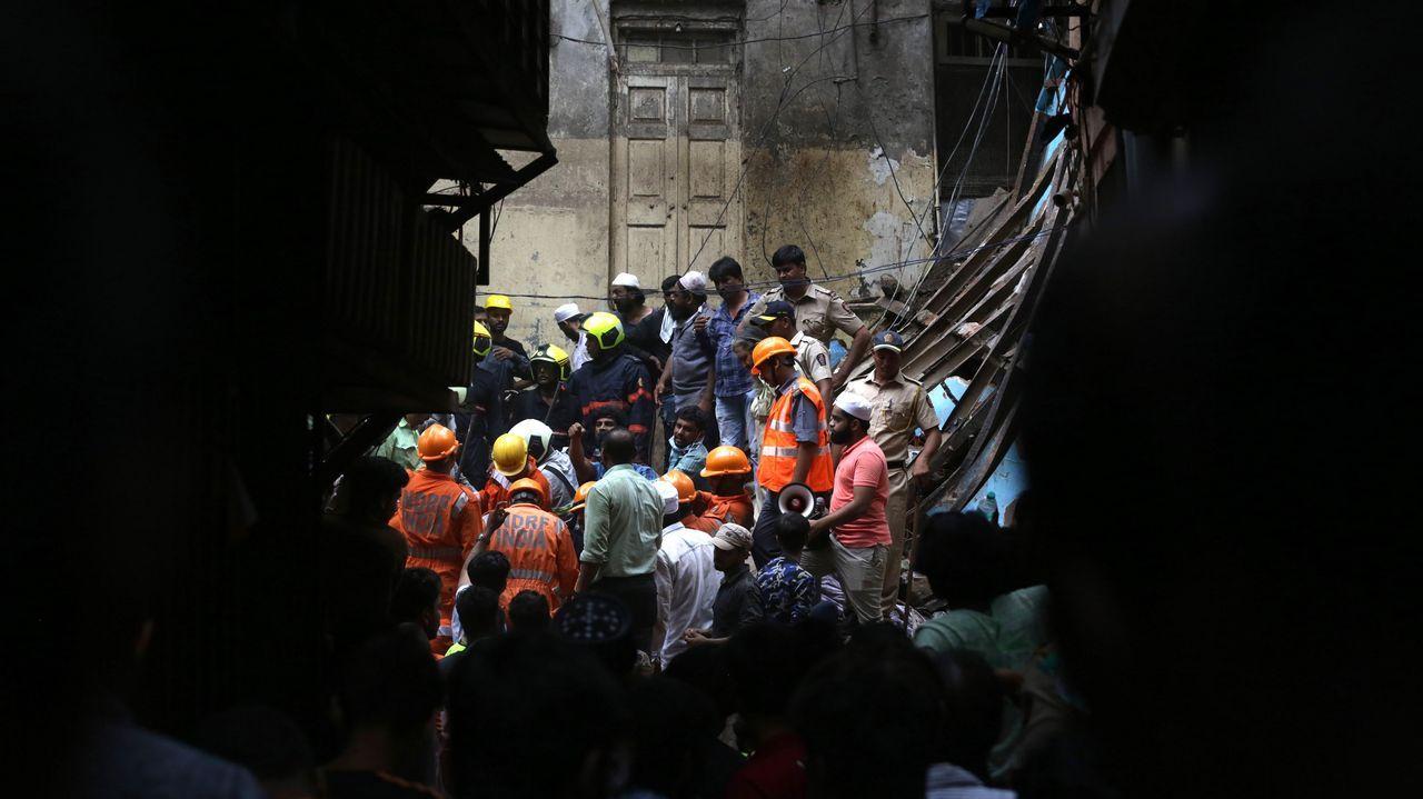 Operación de rescate en Bombay, India