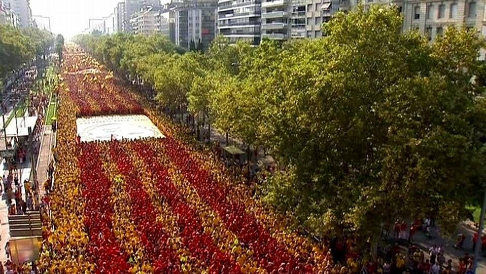 Junqueras: «Queremos estar ahí».Imagen de la Diada el pasado 11 de septiembre