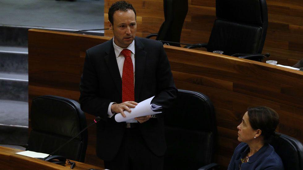 El consejero de Presidencia en el pleno de la Junta General.