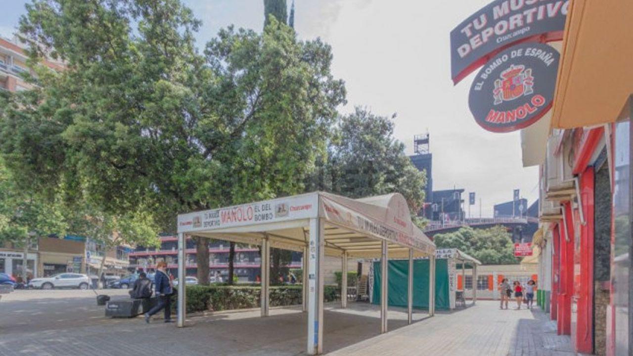 Imagen del portal inmobiliario Idealista que muestra la ubicación del local, en la plaza Valencia Club de Fútbol y con el estadio de Mestalla al fondo