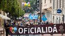 La multitudinaria manifestación por la oficialidad del asturiano, en imágenes
